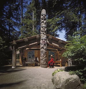 Capilano Bridge, big house with totem